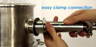 retractable spray ball valve